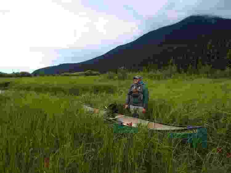 Jamie em uma de suas viagens em território onde vivem os ursos - Arquivo pessoal - Arquivo pessoal