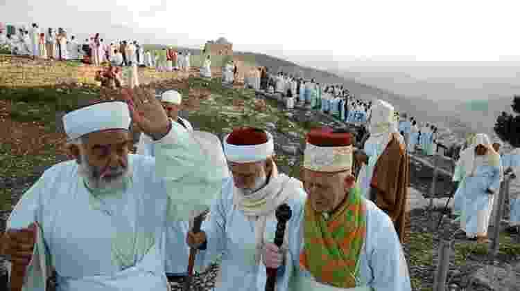 Samaritanos celebram festival religioso no monte Gerizim, na Cisjordânia - Edward Kaprov/Creative Commons