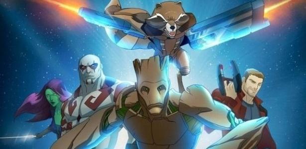 """""""Guardiões da galáxia"""" animado - Reprodução"""