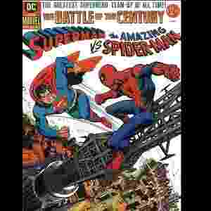 """Capa de """"Superman vs O Espetacular Homem-Aranha"""" (Gerry Conway e Ross Andru, 1976) - Reprodução"""