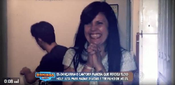 Ex-dançarina do Bolinha vira faxineira e é ameaçada de despejo - Reprodução/TV Record