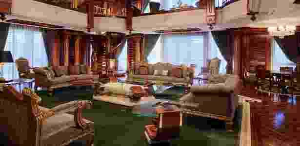 Uma das salas de estar da maior suíte do mundo, no Líbano - Divulgação/Grand Hills Hotel & Spa - Divulgação/Grand Hills Hotel & Spa