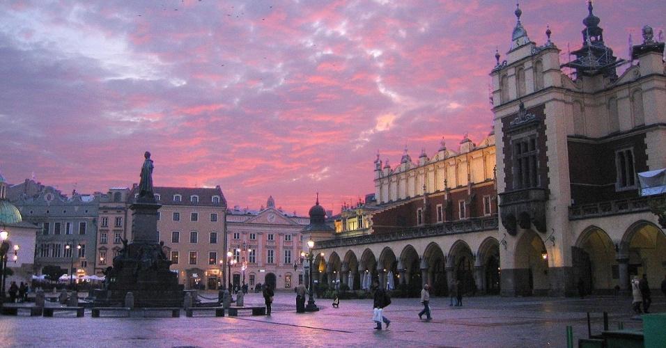 Cidade de Cracóvia, na Polônia