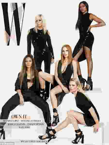 ambém estrelam a edição Jennifer Lopez, Taraji P Henson, Jessica Chastain e Donatella Versace - Reprodução