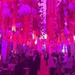 Detalhes da decoração do baile de Carnaval do Copacaba Palace, no Rio de Janeiro - Reprodução/Instagram/@icyblood33