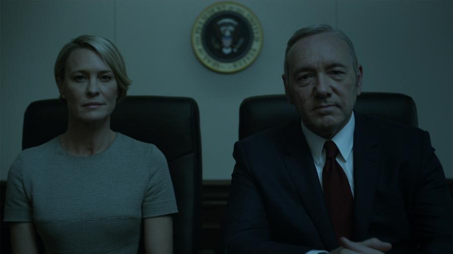 """Os atores Robin Wright e Kevin Spacey, que estrelam a série """"House of Cards"""" - Reprodução"""