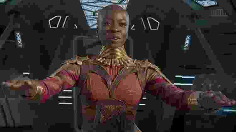 Danai Gurira, que dá vida à personagem Okoye - Reprodução - Reprodução
