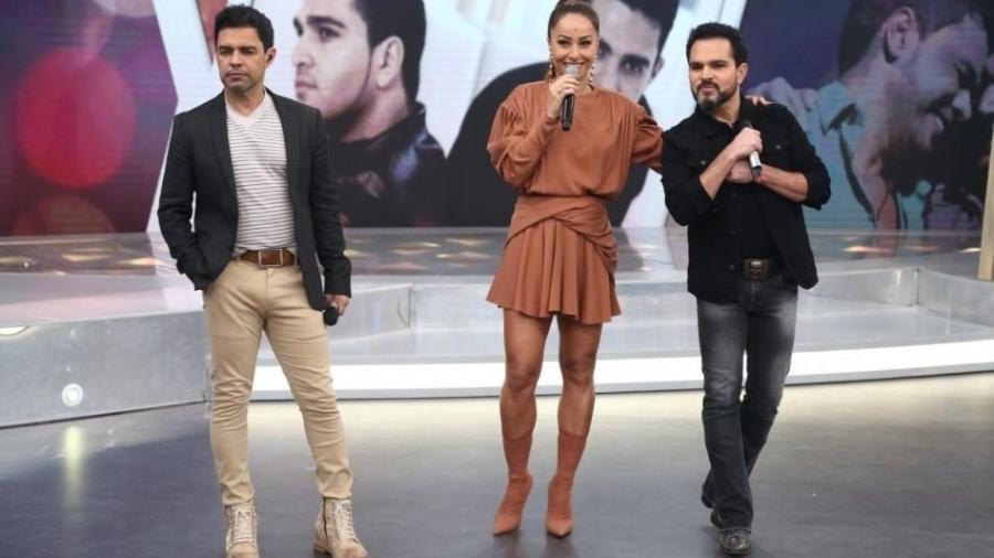 Sabrina Sato recebe Zezé Di Camargo & Luciano em seu programa na Record - Reprodução/Record