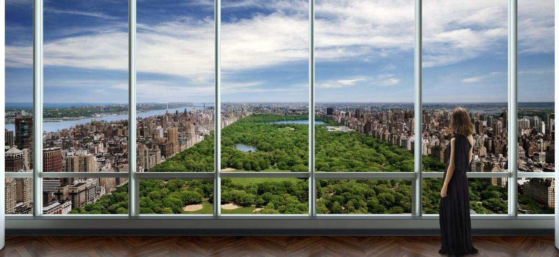 As suítes da cobertura do One57 têm vista para diferentes áres de Nova York, como o Central Park - Divulgação