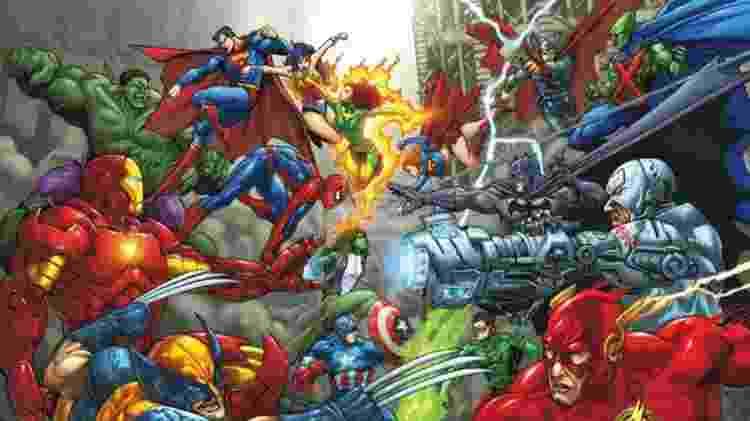 A guerra entre DC e Marvel ainda não acabou - marcelosilkscreen/Flickr/Divulgação - marcelosilkscreen/Flickr/Divulgação