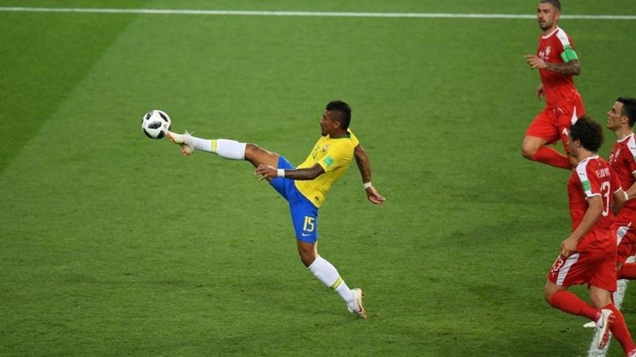 Gol de Paulinho contra a Sérvia - Eugênio Sávio