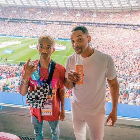 Jaden Smith e o pai, Will Smith, posam na final da Copa do Mundo da Rússia - Reprodução/Instagram/willsmith
