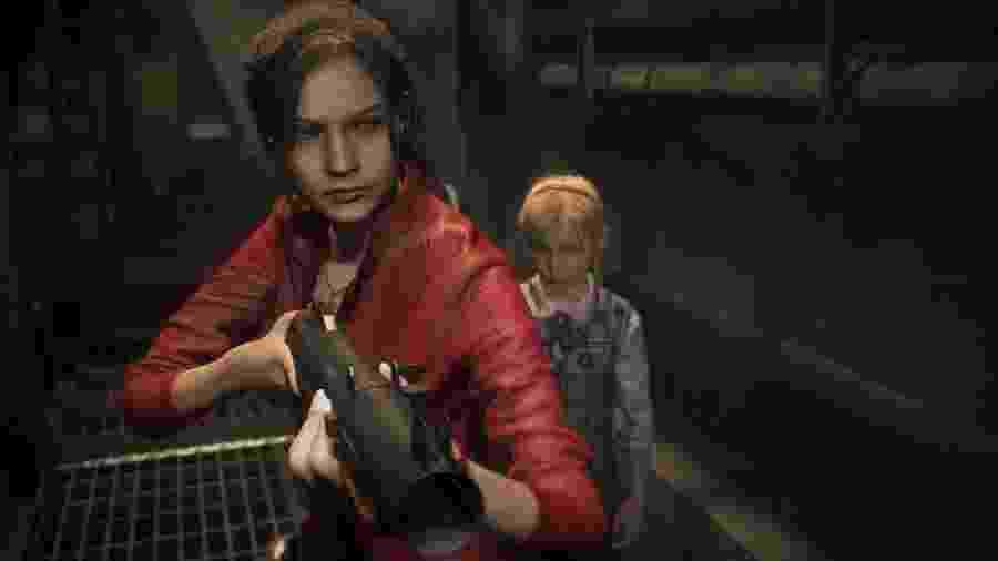 Claire Redfield em Resident Evil 2 - Divulgação
