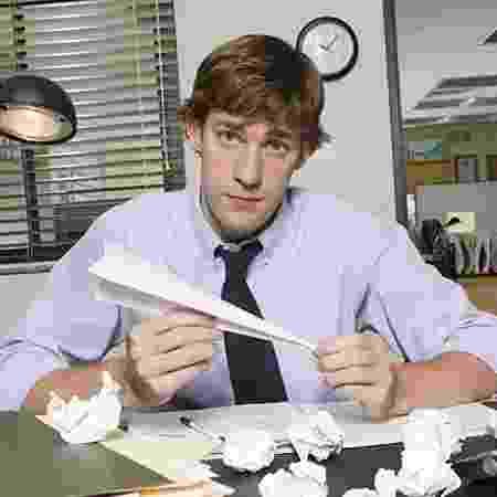 """John Krasinski como o Jim, de """"The Office"""" - Reprodução - Reprodução"""