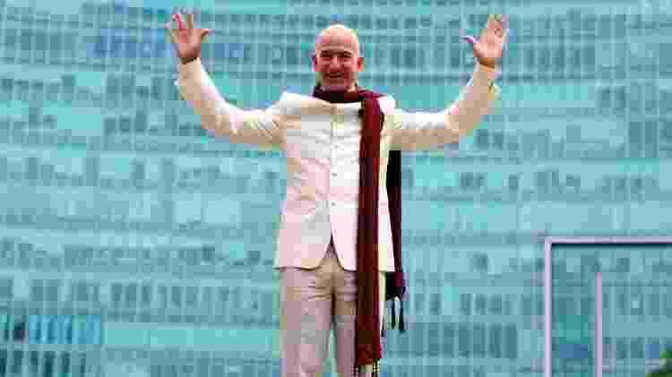 O empresário Jeff Bezos, 56, fundador da Amazon - Abhishek N. Chinnappa/Reuters - Abhishek N. Chinnappa/Reuters