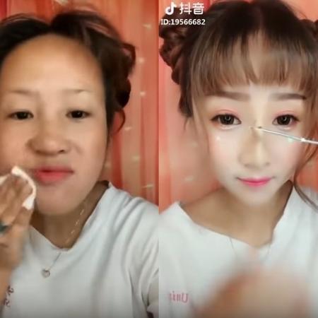 Influenciadoras de beleza estão usando uma mistura de cera e maquiagem para transformar os traços do rosto - Reprodução/Youtube