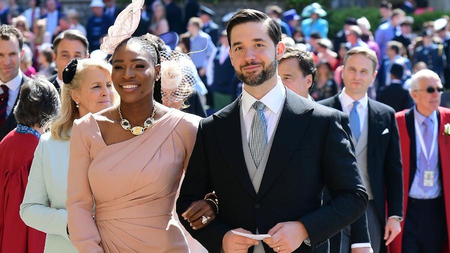 Serena Williams e Alexis Ohanian; empresário deixou cargo no Reddit e quer vaga ocupada por candidato negro - Getty Images
