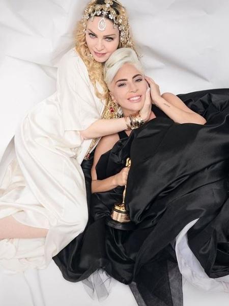 Madonna e Lady Gaga em foto histórica em festa pós-Oscar - Reprodução/JR/Time