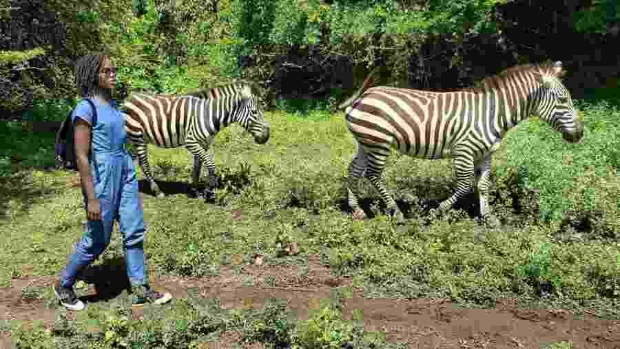 """Lupita Nyong""""o em Kisumu, no Quênia - Reprodução/Instagram"""