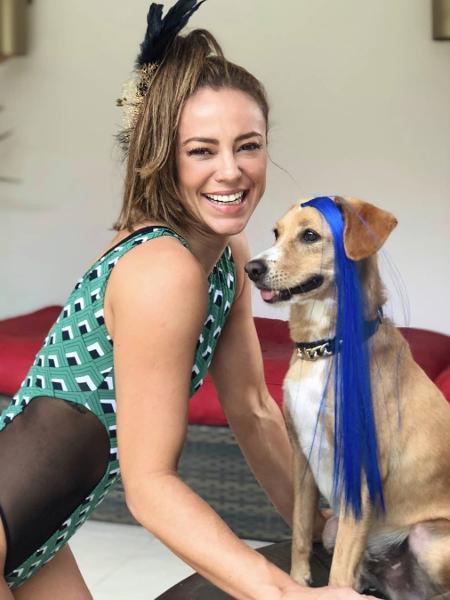 Paolla Oliveira e seu cãozinho, Chopp - Reprodução/Instagram