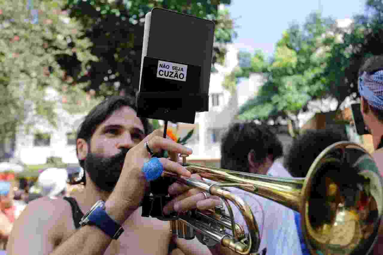 Bloco A Espetacular Charanga do França desfila em Santa Cecília, região central de São Paulo - Nelson Antoine/UOL