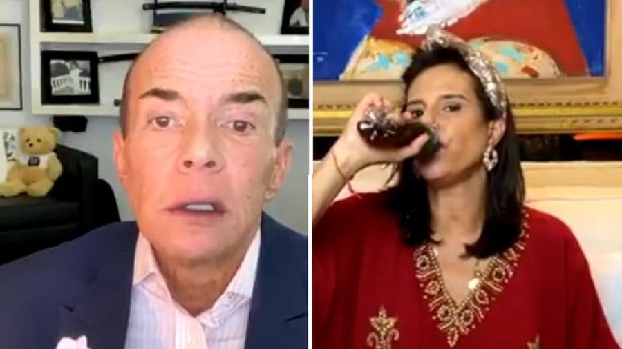 Chiquinho Scarpa e Narcisa Tamborindeguy na live mais pitoresca da temporada - Reprodução/Instagram