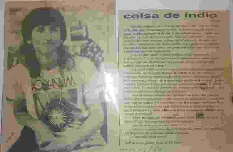 Texto e foto de Olivio Jekupé em 1989 - Acervo Pessoal  - Acervo Pessoal