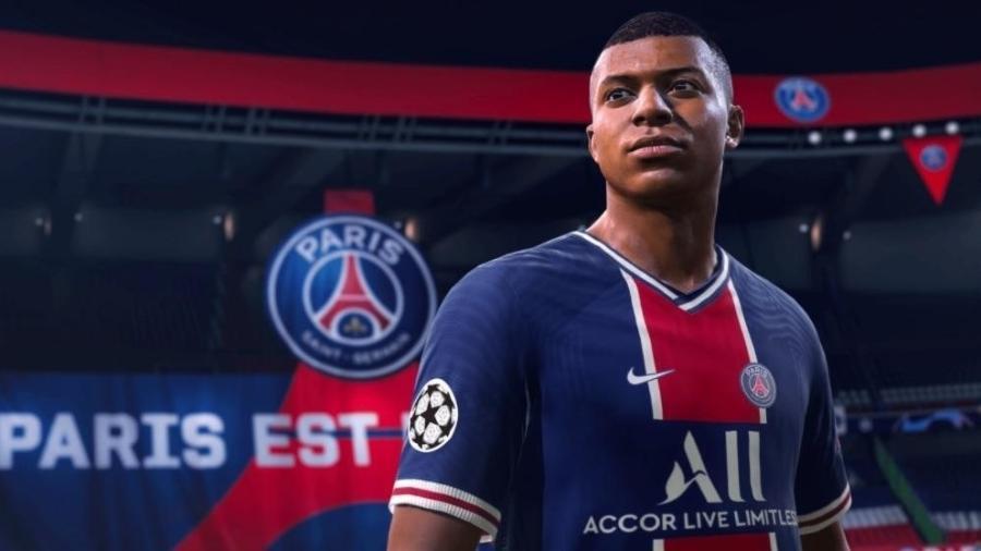 Kylian Mbappé é capa do Fifa 21; game é atração do Futebol Muleke na Twitch e no TikTok - Divulgação