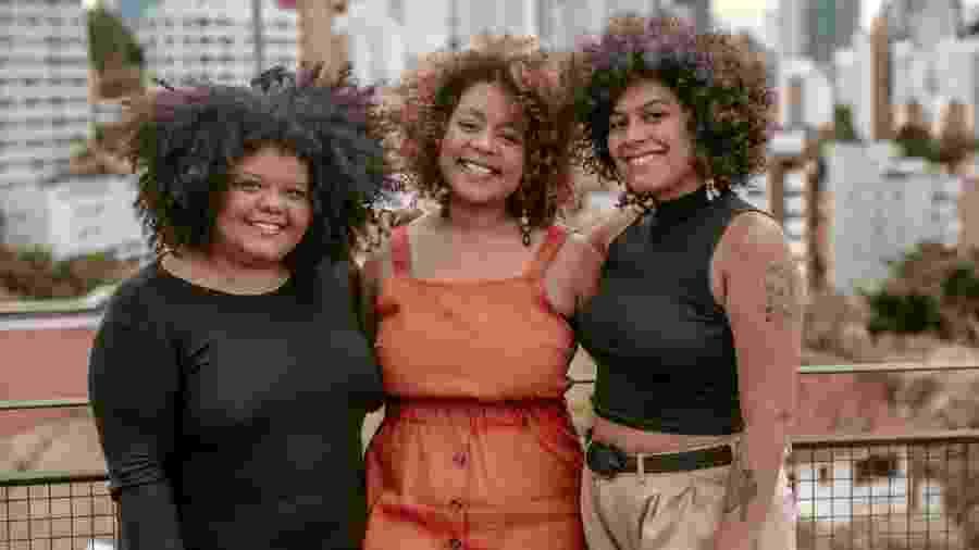 Criadoras do Indique Uma Preta,  Verônica Dudiman, Daniele Mattos e Amanda Abreu fizeram parte da consultoria do programa de trainee do Magazine Luiza - Divulgação