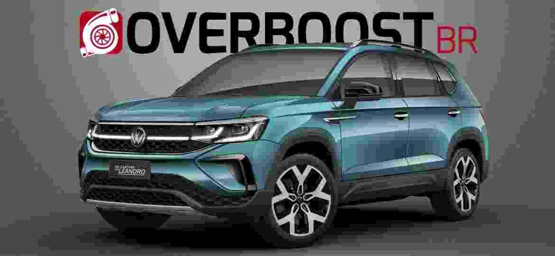 Projeção mostra como ficaria o VW Taos sem camuflagem - Renato Aspromonte/OverboostBR