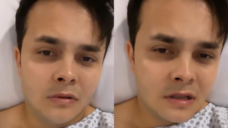 Matheus, da dupla com Kauan, tranquiliza fãs após passar por cirurgia no septo nasal - Reprodução/Instagram