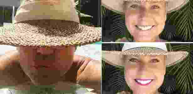 Xuxa é criticada por foto em piscina (à esquerda), e posta foto maquiada para ironizar internautas (à direita) - Reprodução /Facebook /Xuxa