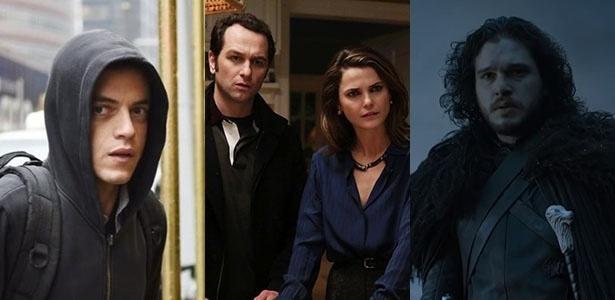 """""""Mr. Robot"""", """"The Americans"""" e """"Game of Thrones"""" são fortes candidatas ao Emmy 2016 - Montagem UOL"""
