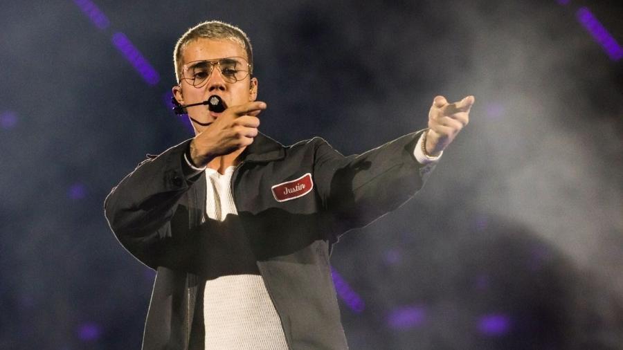 Justin Bieber durante show no Allianz Parque, em São Paulo - Mariana Pekin/UOL