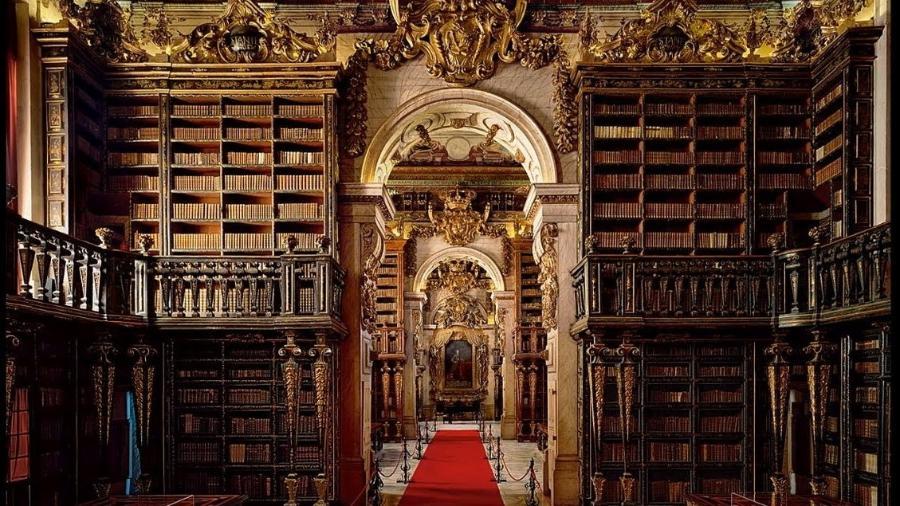Biblioteca Joanina, em Coimbra (Portugal) - Divulgação