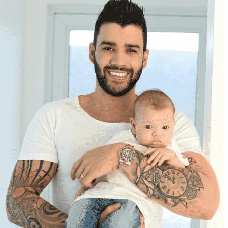 Gusttavo Lima e o filho, Gabriel - Reprodução/Instagram/andressasuita