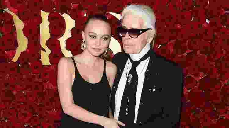 Lily-Rose Depp e Karl Lagerfeld - Getty Images - Getty Images