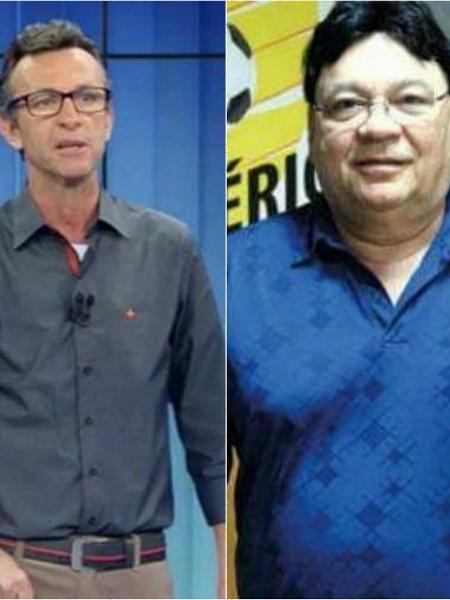 Neto briga com radialista - Reprodução/TV Bandeirantes/Twitter Montagem/UOL