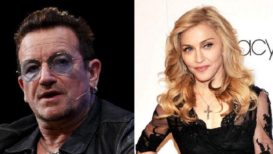 Bono e Madonna, citados na nova investigação Paradise Papers - Getty/Montagem