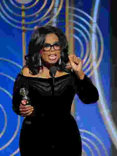 Oprah Winfrey no Globo de Ouro 2018 - Getty Images