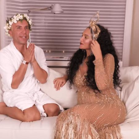Matheus Mazzafera entrevista Débora Nascimento - Reprodução/YouTube