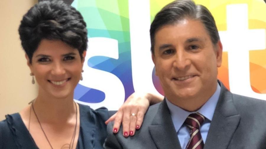 Mariana Godoy e Carlos Nascimento nos bastidores do SBT - Reprodução/Instagram