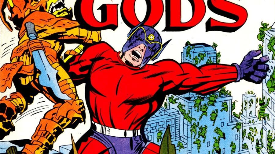 """Capa de edição da HQ """"Novos Deuses"""", criada pelo mestre Jack Kirby - Reprodução"""