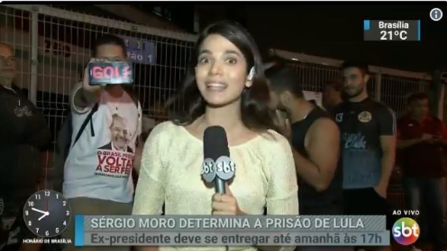 """Homem invade link e chama Silvio Santos de """"golpista"""" - Reprodução/SBT"""