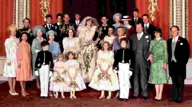 As crianças no casamento de Diana e Charles - AFP - AFP