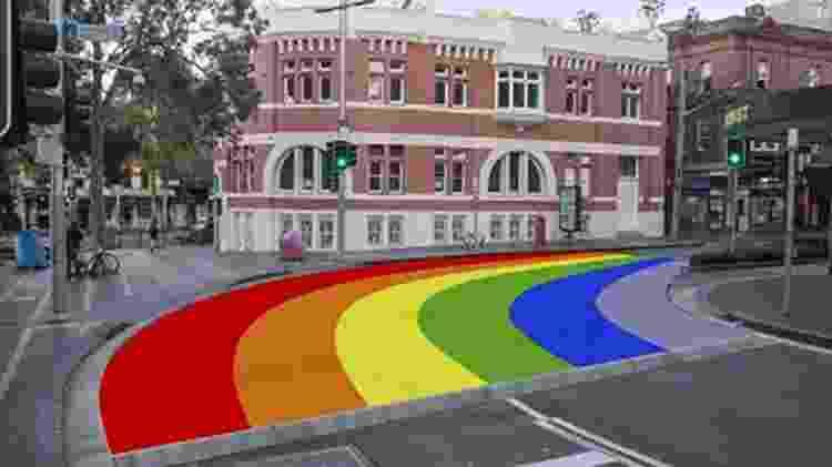 Plano da nova faixa de pedestre LGBT em Sydney - Reprodução/City of Sydney - Reprodução/City of Sydney