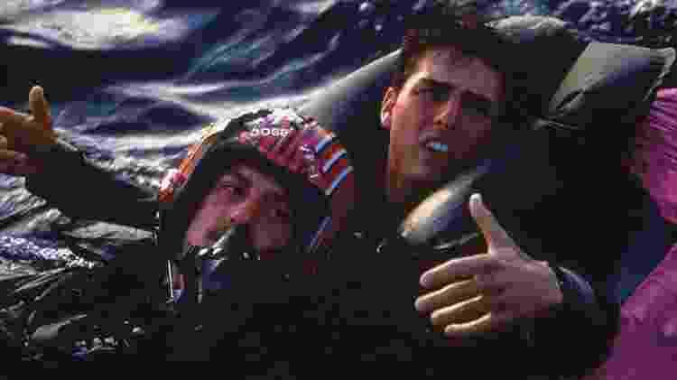 """Anthony Edwards e Tom Cruise em cena de """"Top Gun"""" - Divulgação - Divulgação"""