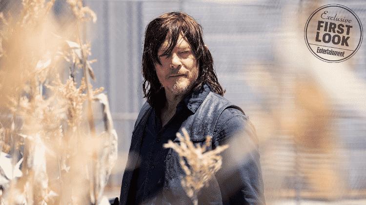 """Daryl em cena da 9ª temporada de """"The Walking Dead"""" - Reprodução - Reprodução"""