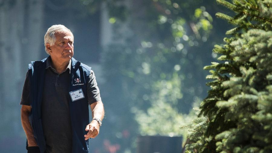 O chefão da CBS Leslie Moonves, também conhecido como Les Moonves, durante conferência na Califórnia, em julho - Drew Angerer/Getty Images