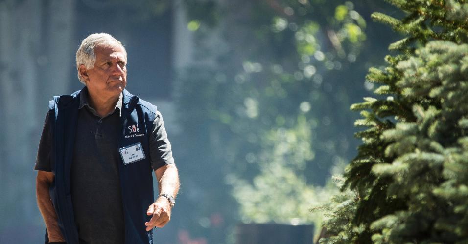 O chefão da CBS Leslie Moonves, também conhecido como Les Moonves, durante conferência na Califórnia, em julho